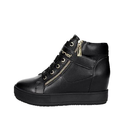 Fornarina Sneakers con Zeppa Interna Nero PIFMJ9606WVA0000 meti-Black Nappa  Nuova Collezione Autunno Inverno 2016 2017  Amazon.it  Scarpe e borse 2cb01b5f08a