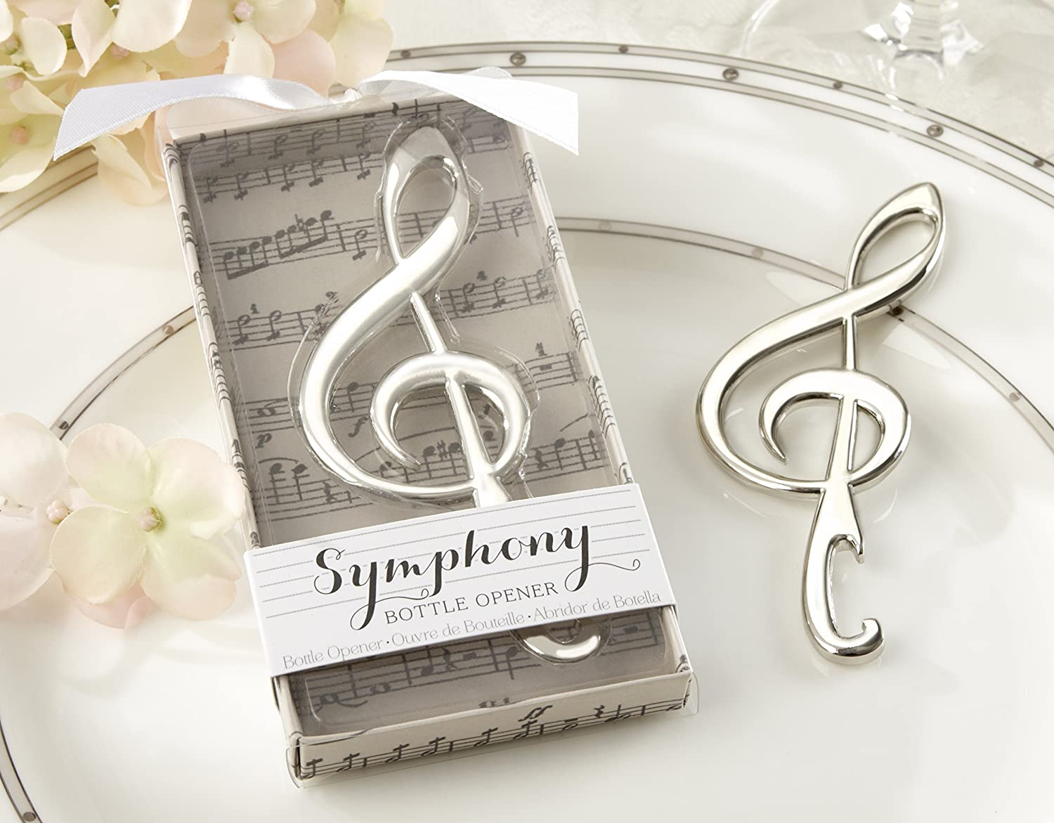 Amazon.com: Kate Aspen Symphony Chrome Music Note Bottle Opener ...