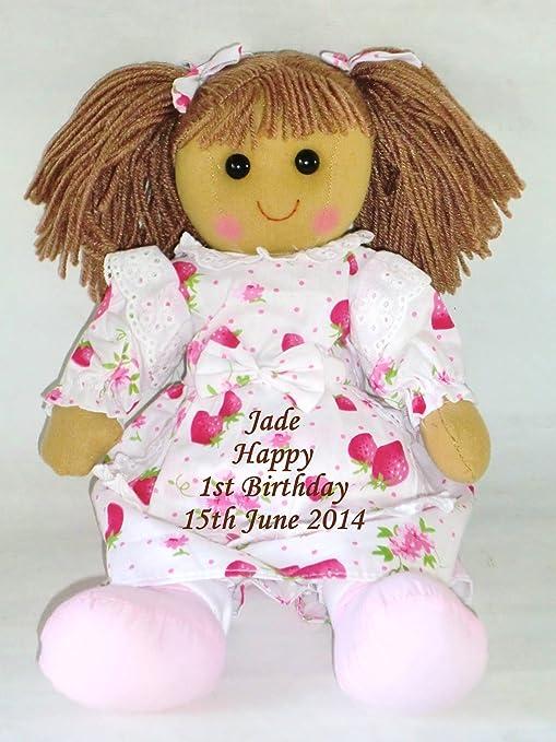 Muñeca grande personalizada para el primer cumpleaños del ...