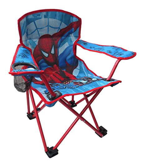 Surprising Other Spiderman Kids Boys Childrens Folding Garden Camping Beach Chair With Cup Holder Pabps2019 Chair Design Images Pabps2019Com