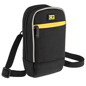 Ruggard Point and Shoot Camera Case Padded Pouch with Weather-Resistant  Exterior and Extra Pockets for SD Card, Spare Battery and Other Small Items  -