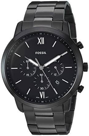 132a415c2 Image Unavailable. Image not available for. Color: Fossil Men's Neutra  Chrono Quartz Stainless-Steel-Plated ...