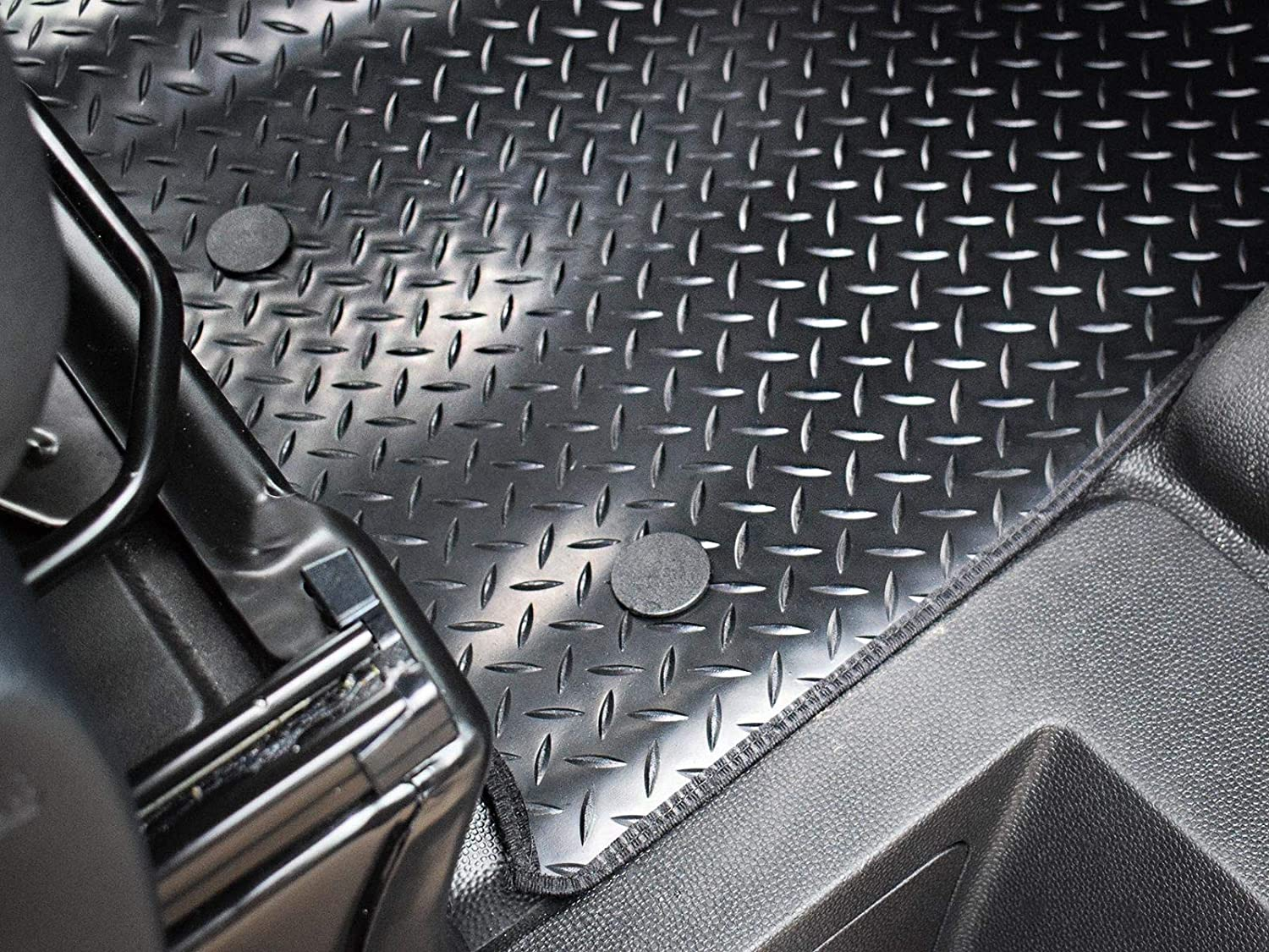 Van Demon Tailored Fit 1pc Front Black Carpet Floor Mat for Ford Transit Custom
