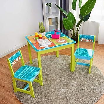 Amazon.com: Juego de mesa y sillas para niños de BABY JOY ...