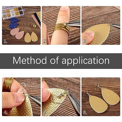 Amazon.com: Juego de 19 piezas de piel sintética para hacer ...