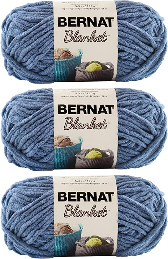 21 x 6 x 6 inches Bernat POP-PACK OF 3 BALLS-140G EACH BALL-HANDICRAFTED Acrilico