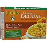 Annie's Homegrown Creamy Deluxe Shells & Real Aged Cheddar Sauce Macaroni, 11 Ounce