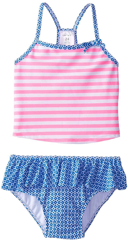 Carter's Baby Girls' Striped 1 Piece Swimwear 12 Months Carter' s Baby SC15533