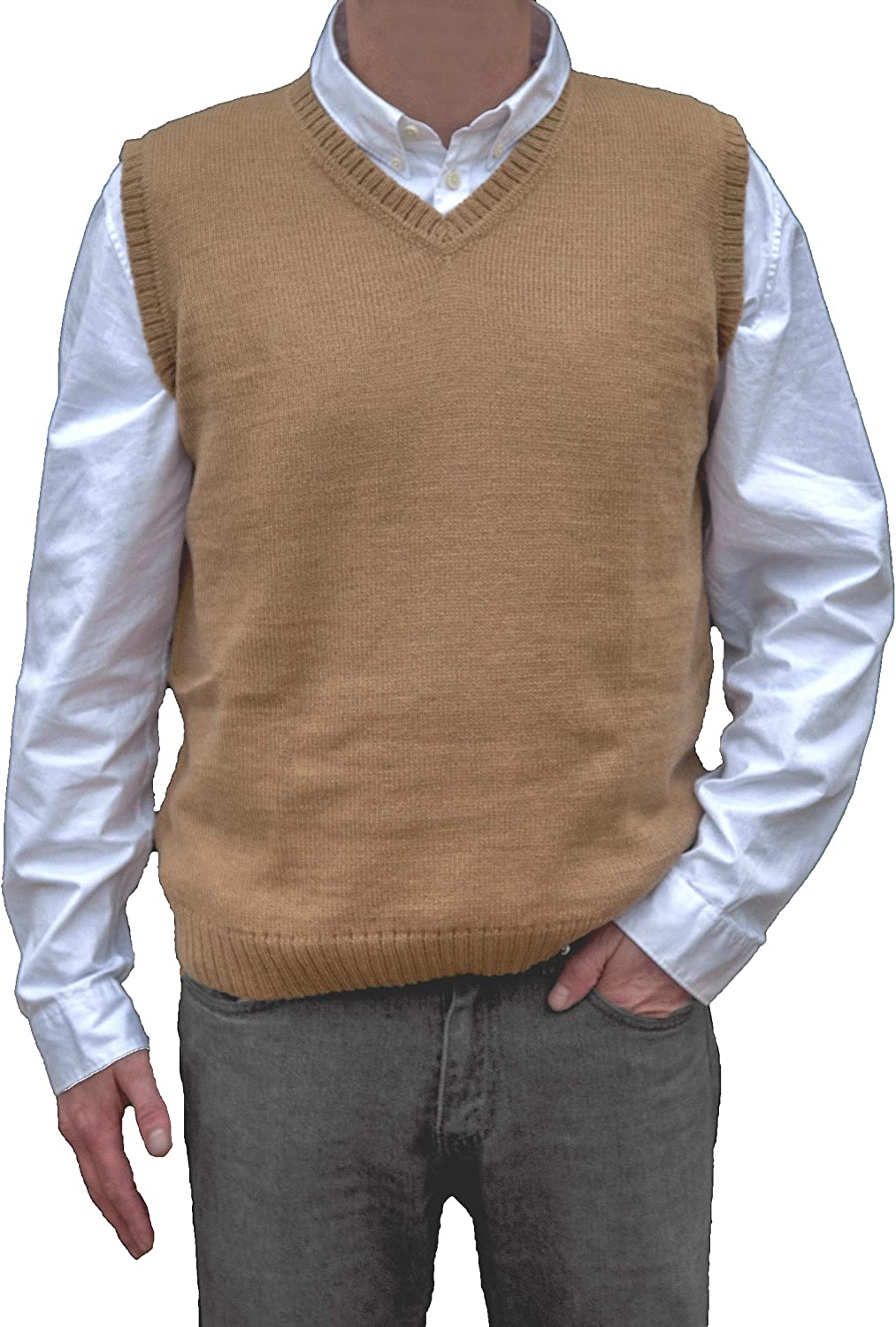 Generic Mens Slim Fit Basic Long Sleeve V-Neck Knit Pullover Sweater