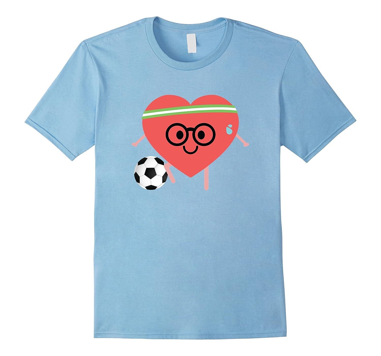 Soccer Heart Nerdy Emoji Shirt T-Shirt Football Tee