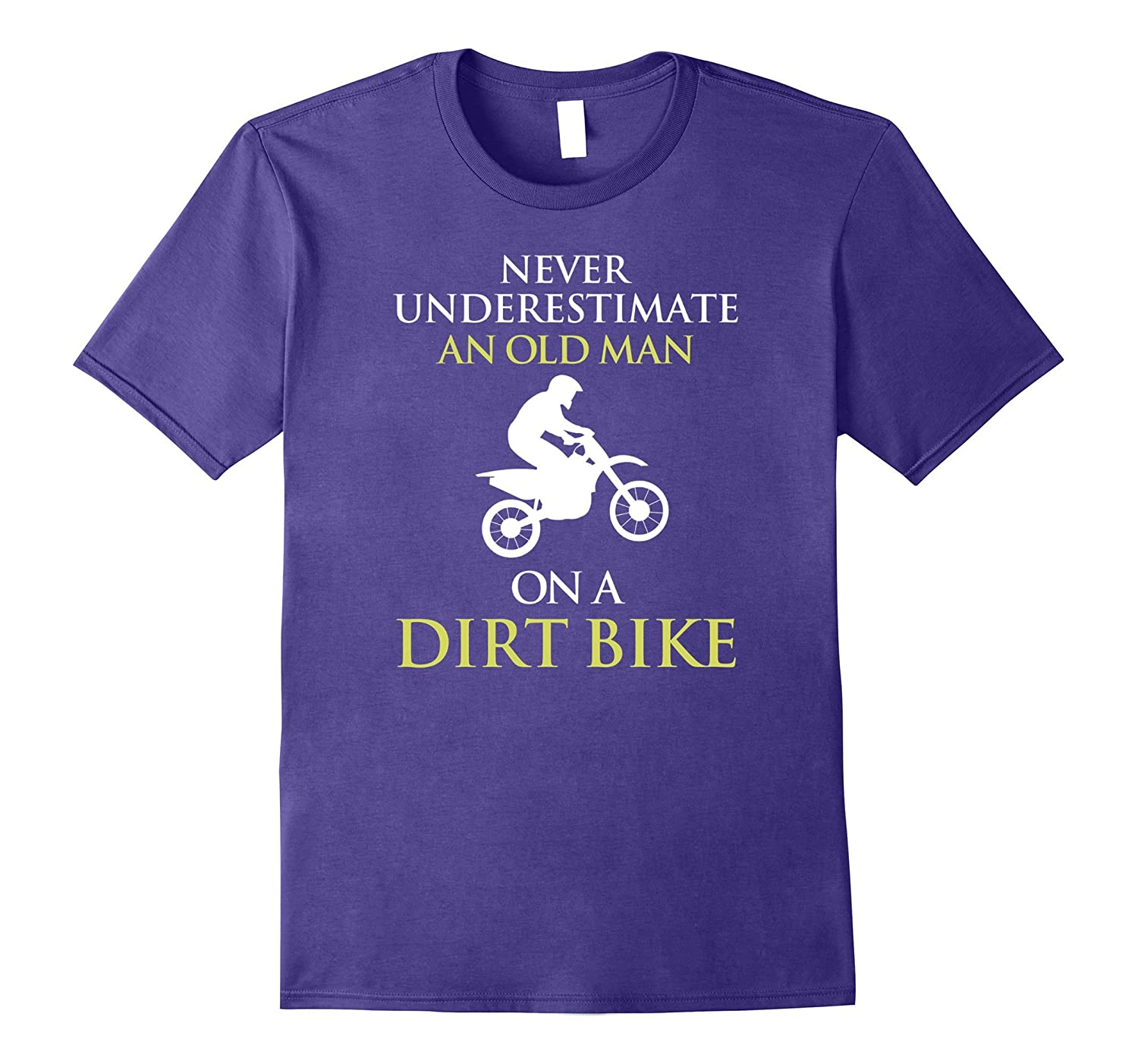 Cool Never Underestimate An Old Man With A Dirt Bike T-shirt-BN