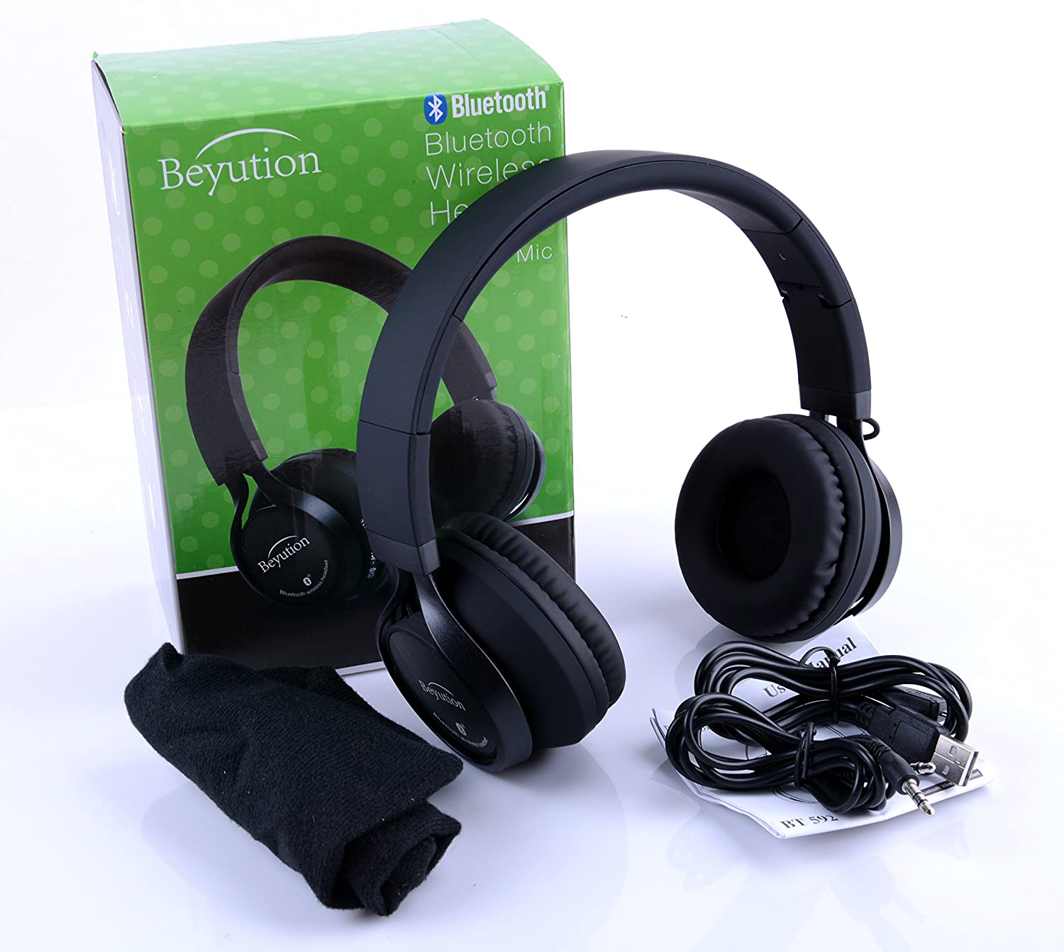 Beyution Metal Bluetooth headphones Hi-Fi Stereo Wireless Bluetooth Headset for Apple iPhone IPad iTouch Mac IPOD SAMSUNG GALAXY S5/S4/S3; Note 2/3/4 LG and all portable devices with bluetooth (BT525)