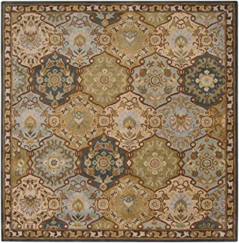 Area Rug 8x8 Square Traditional Blue Color   Surya Caesar Rug From RugPal