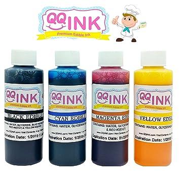 2 oz Premium Edible Ink Refill Bottle Kit for Canon Printer (BK ...