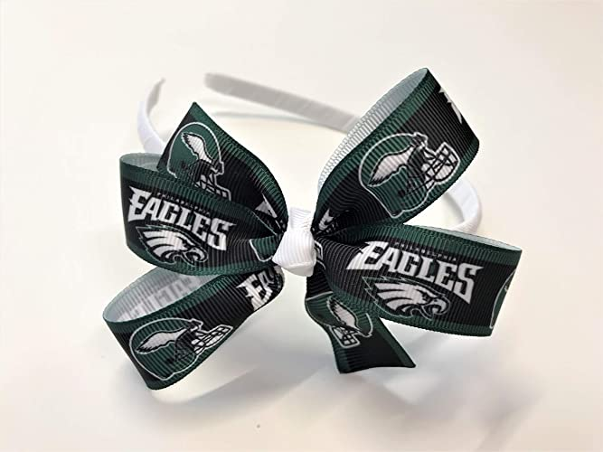 Eagles Baby Headband Philadelphia Eagles Baby Girl NFL Eagles Hair Bow  Toddler 49fa52b5332