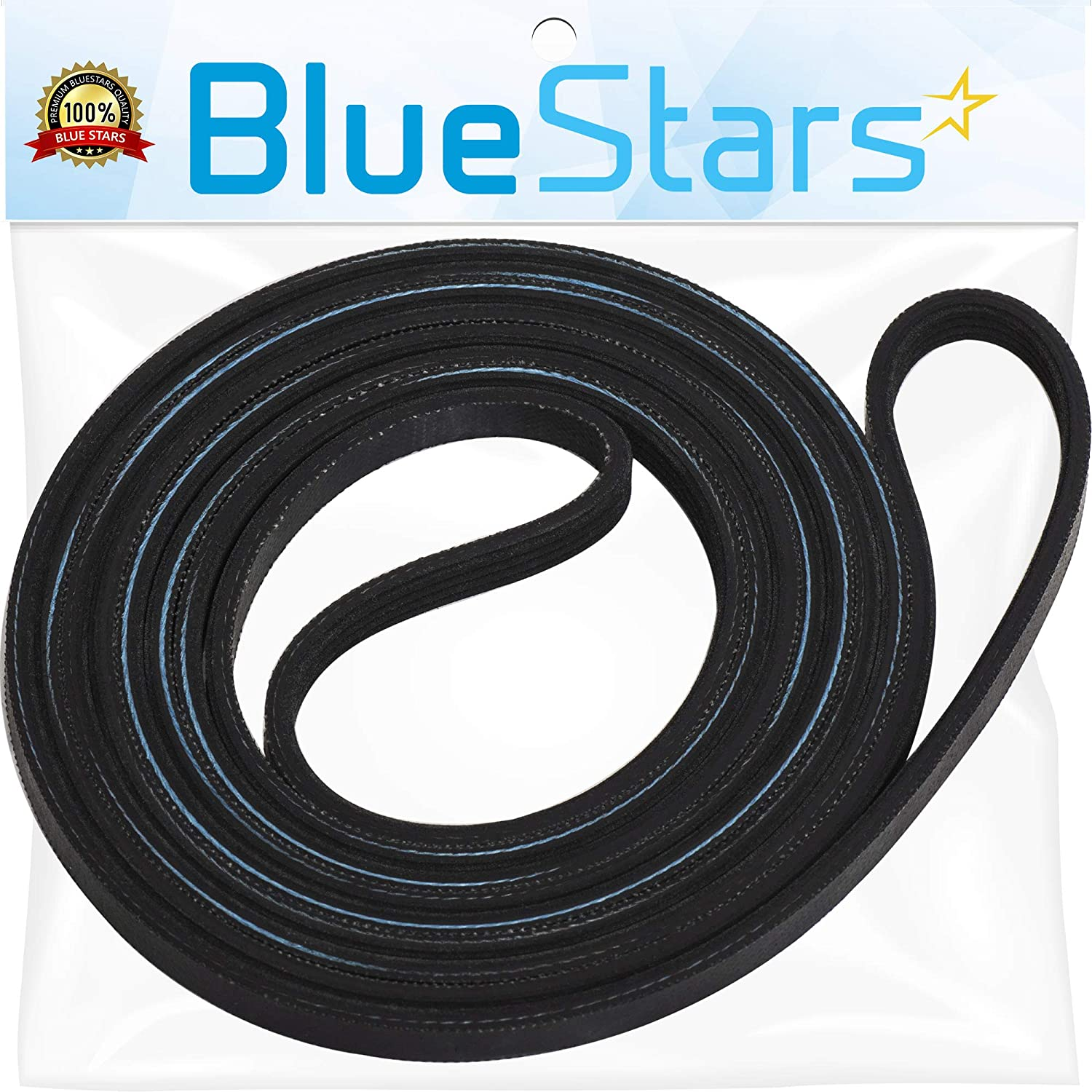 Ultra Durable 8547157 Dryer Drum Belt Replacement Part by Blue Stars- Exact Fit for Whirlpool & Kenmore Dryers - Replaces WP8547157 PS11746374