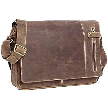 219d0ca0e1 ALMADIH sac en cuir véritable M26, sac bandoulière Marron Vintage serviette  sac porté épaule Messenger