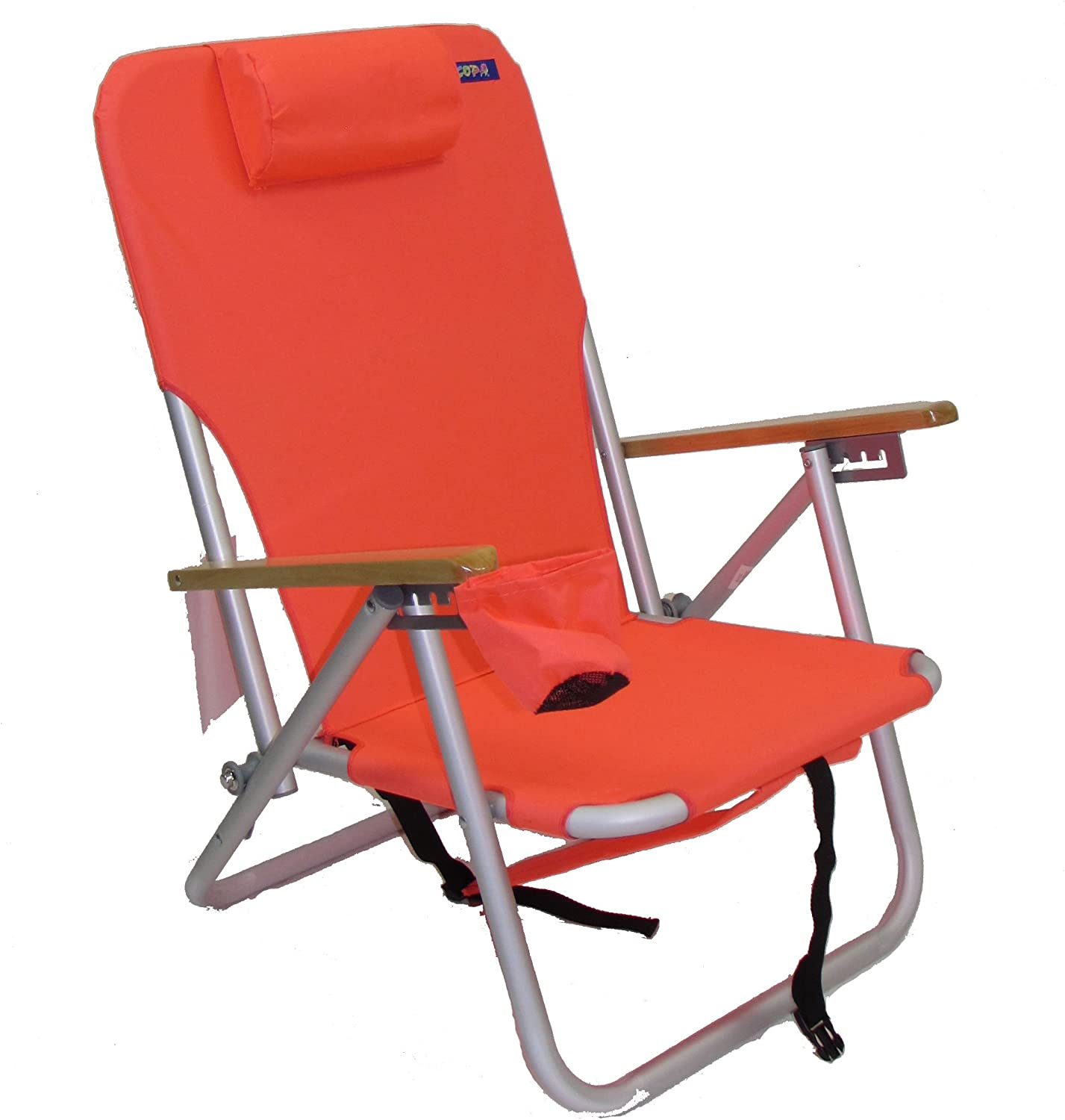 COPA 4 Position Aluminum Folding Backpack Chair Coral