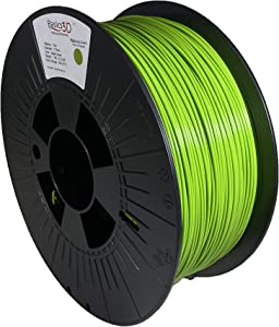 Basics 3D Professional 3D Printer Filament, PLA Bioplastic Composite, Apple Green, 1.75mm, 1.0 Kg, Made in USA, Filament Compatible with Prusa, Creality, FlashForge and Most FDMs