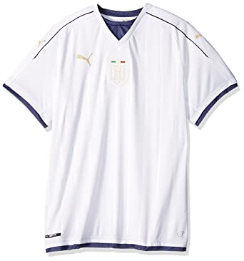 490de081bd9 PUMA Men's FIGC Italia Tribute Away Shirt Replica, White/Peacoat, Small