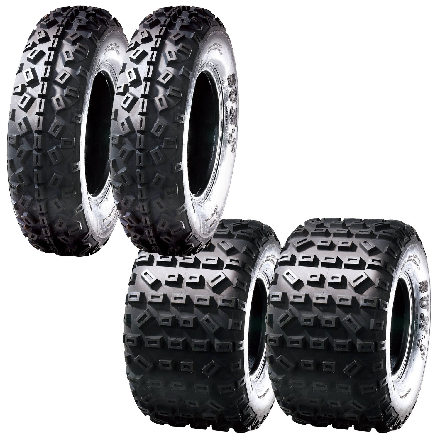 SunF Knobby XC MX ATV Tires 21x6-10 & 20x11-9 6 PR A035 (Full set of 4, Front & Rear) by SunF (Image #1)