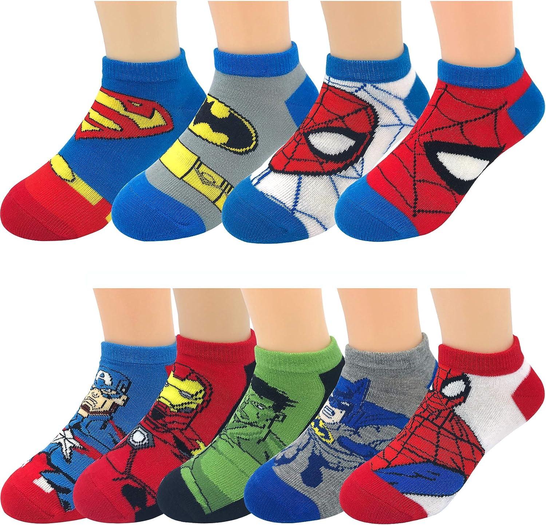 Kids Boys Girls Disney Marvel Avengers DC Comics Superheroes Ankle Crew Low Cut Fashion Socks Gifts Set