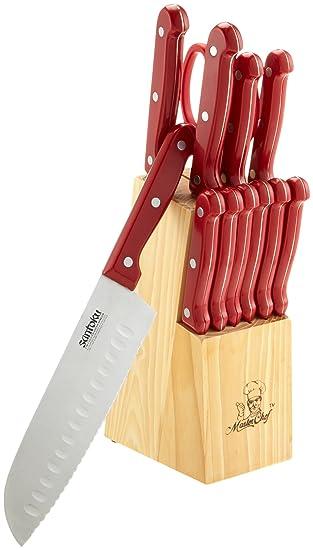 MasterChef 16 piezas Juego de cuchillos con bloque, color ...