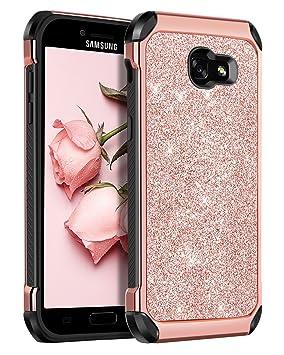 low priced ca9c0 4b981 BENTOBEN Silicone Case for Samsung Galaxy A5 2017, Galaxy A5 2017 Case  Silicone, Slim Thin Fit Hybrid Hard PC Soft TPU Bumper Protective Glitter  ...