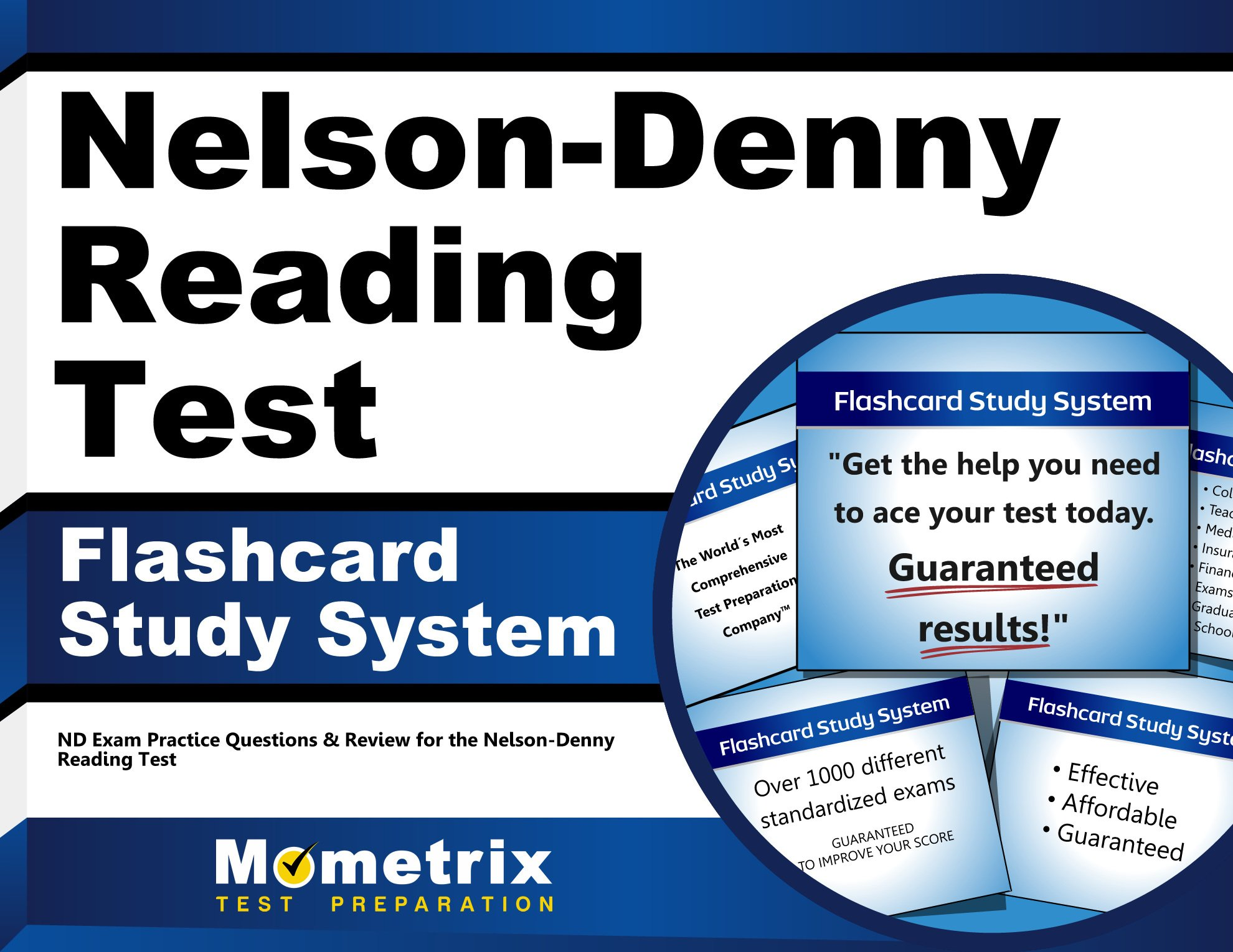 Nelson Denny Reading Test Flashcard Study System Nd Exam Practice