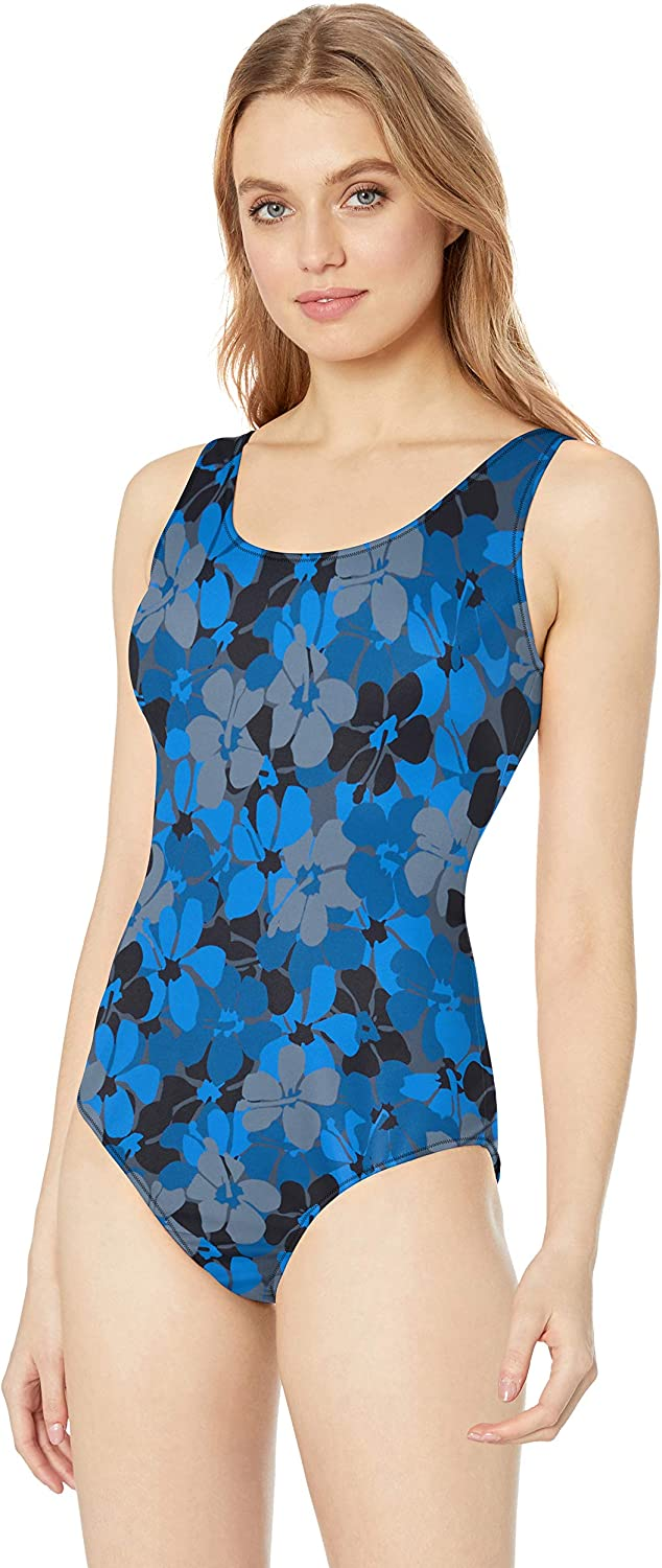 Essentials Womens One Piece Coverage Swimsuit One Piece Swimsuit