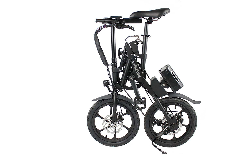 2018 xite3 bicicletas eléctricas, Eléctrico de bicicleta plegable, Eléctrico, Con Ruedas De Ebike, Pedelec, 16 pulgadas, 7 velocidades Shimano, color negro, ...