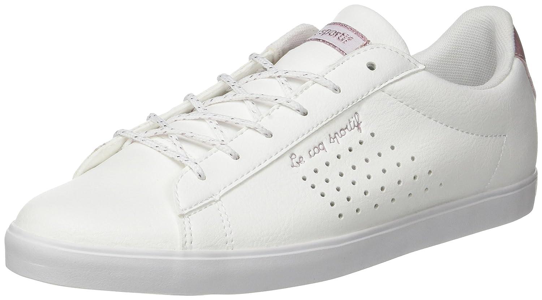 Le COQ Sportif Agate Lo S Lea/Metallic, Entrenadores Bajos para Mujer 38 EU|Blanco (Optical White/Pale Multicolore)