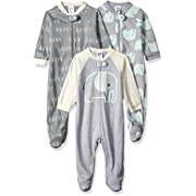 Gerber Baby 3-Pack Organic Sleep 'N Play, Happy Elephant, 3-6 Months