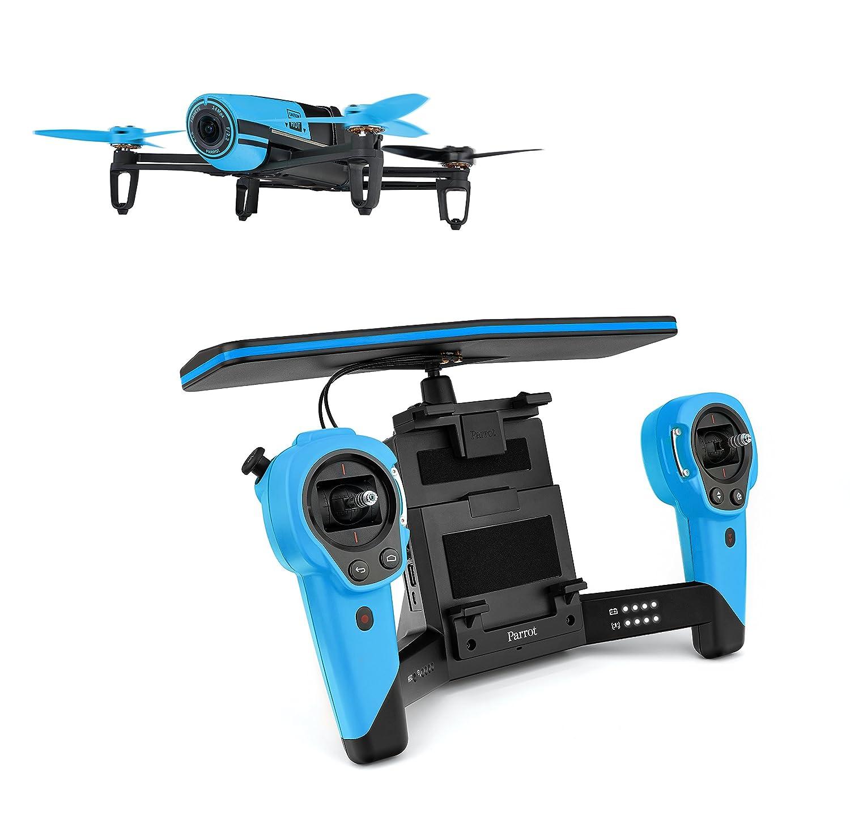 forma única Azul Parrojo BEBOP BEBOP BEBOP - Dron cuadricóptero (Full HD 1080P, 14 Mpx, 47 Km h, 11 minutos de vuelo, 8GB, GPS, Vídeo Live Streaming) + 2 baterías, Color rojo  selección larga