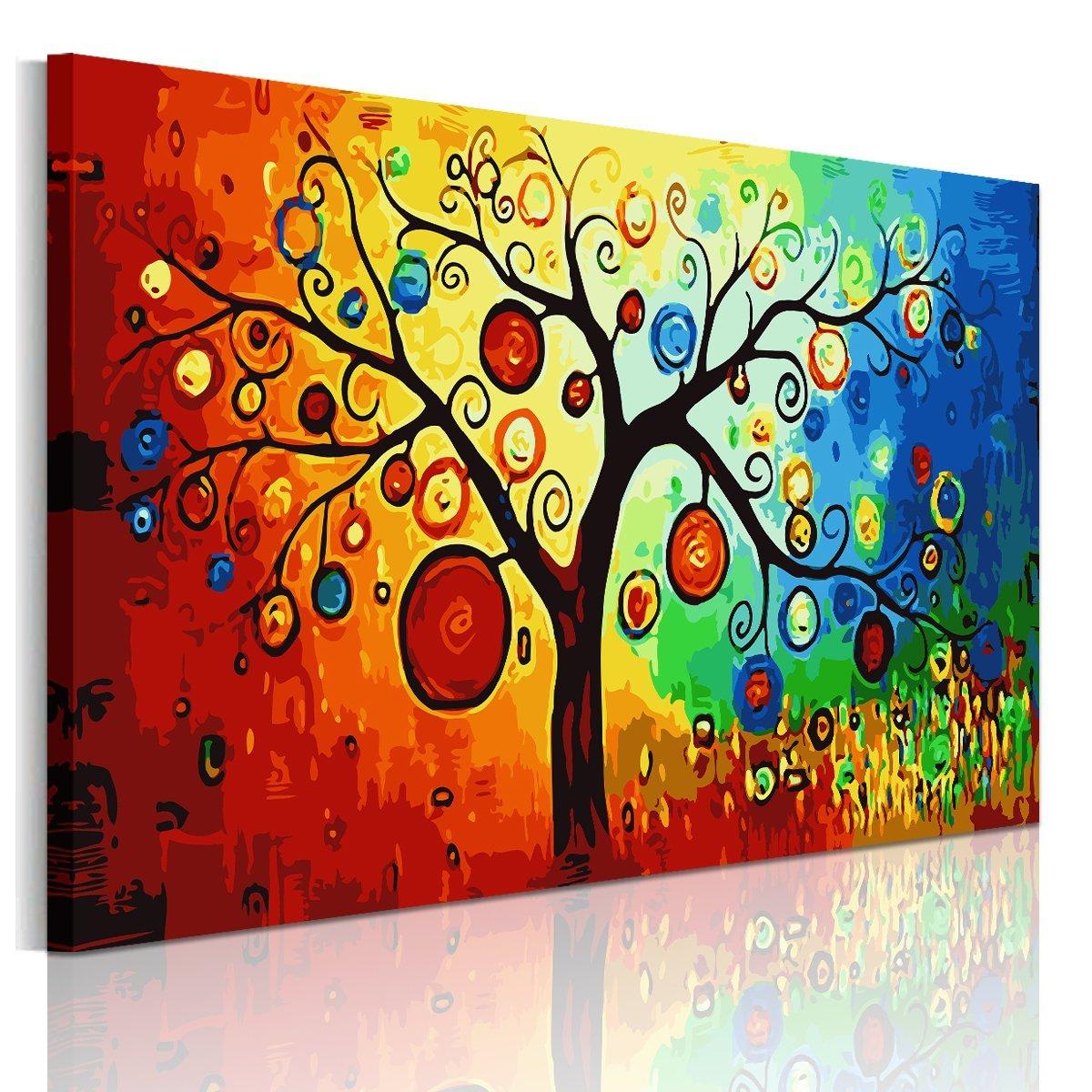tableau arbre peinture sur toile  amazon fr