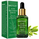 Acne Treatment Serum, BREYLEE Tea Tree Clear Skin Serum Acne Spot Treatment for Clearing Severe Acne, Breakout, Remover Pimpl