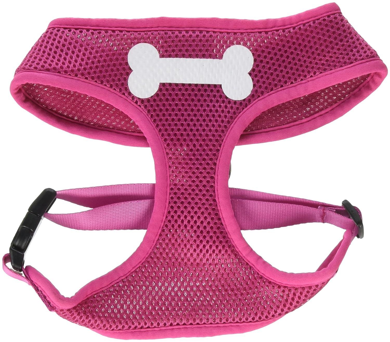 (Large, Pink) Mirage Pet Products 70-04 LGPK Bone Design Soft Mesh Harnesses Pink Large