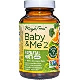 MegaFood Baby & Me 2 Prenatal Multi Minis - Prenatal Vitamins for Women with Folic Acid, Choline, Biotin, and More - Non-GMO