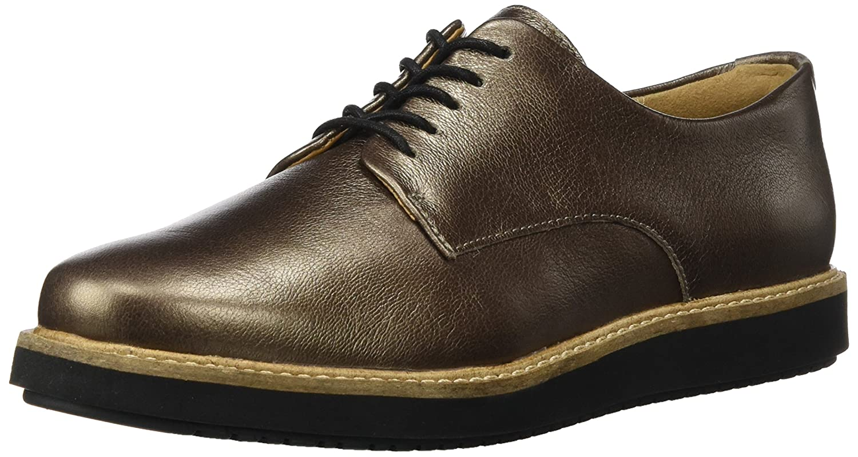 Clarks Glick Darby, Derby para damen Beige (Pewter Leather)