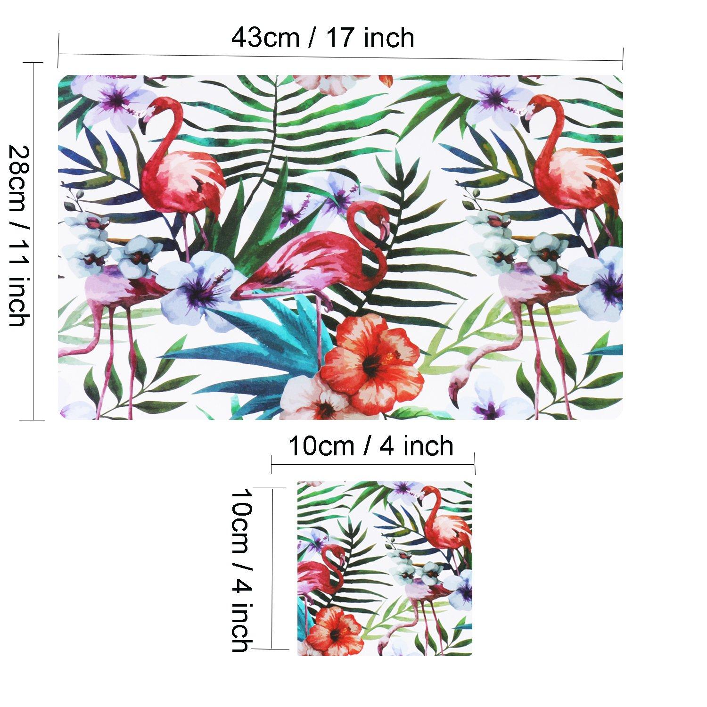 6 Manteles Individuales Plastico Salvamanteles Individuales Plastico Flamenco Conjunto de 6 estilo 1: Amazon.es: Juguetes y juegos