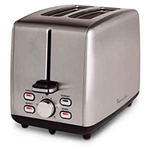 Continental Electric Toaster PS77411, 2-Slice, Silver