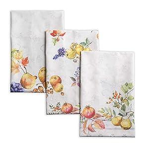 Maison d'Hermine Fruit d'hiver 100% Cotton Set of 3 Kitchen Towels 20 Inch by 27.5 Inch.