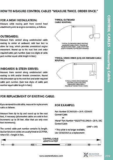 Pair  Teleflex//Seastar Throttle//Gear Remote Control Cables  Grade 33c 40 ft.