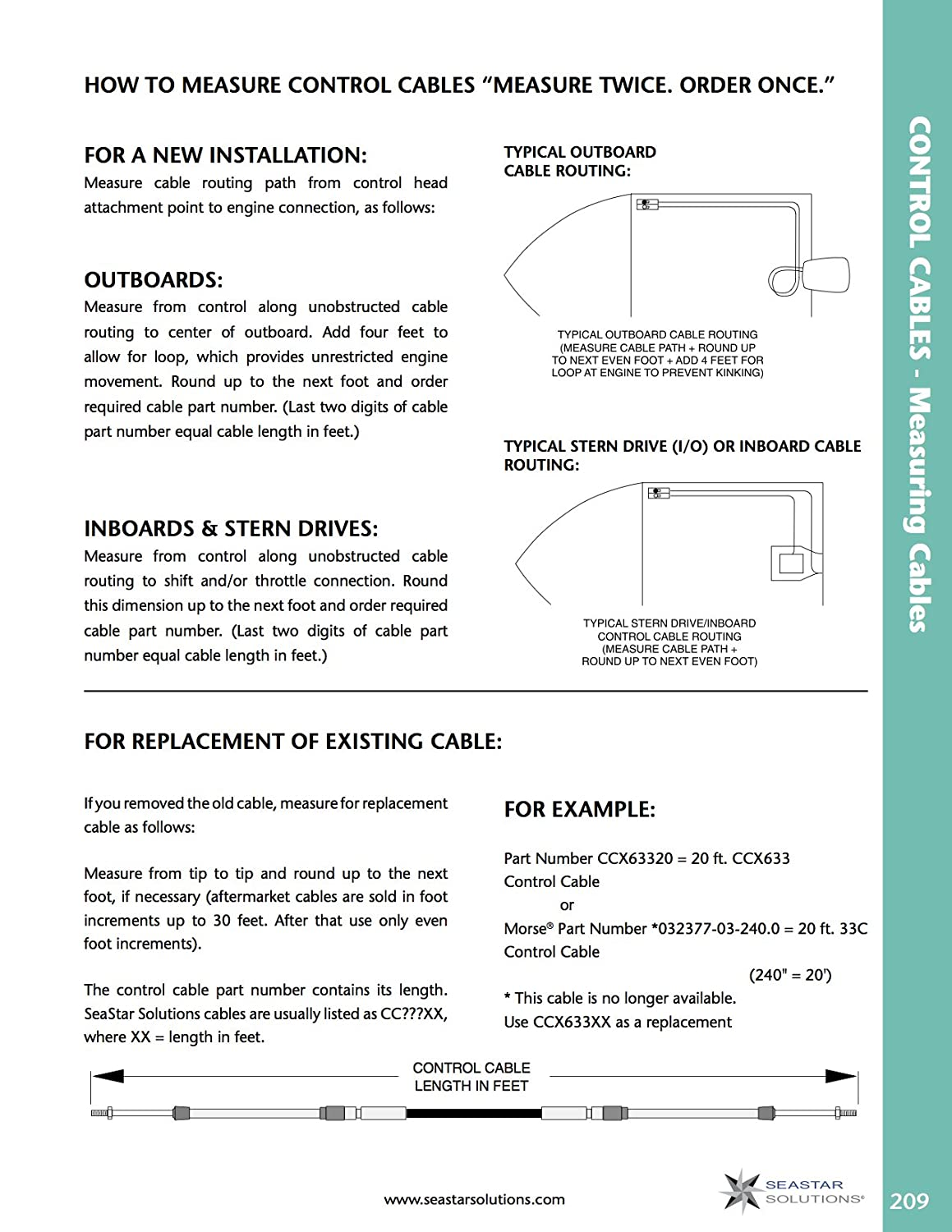 Seastar Ccx633xx Xtreme 3300 33c Type Control Cable With Nissan 3 0 Hp Outboard Wiring Diagram 10 32 Threaded Ends Sports Outdoors