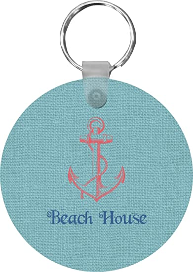 Chic Beach House Round Keychain at Amazon Women s Clothing store  bc66b83390