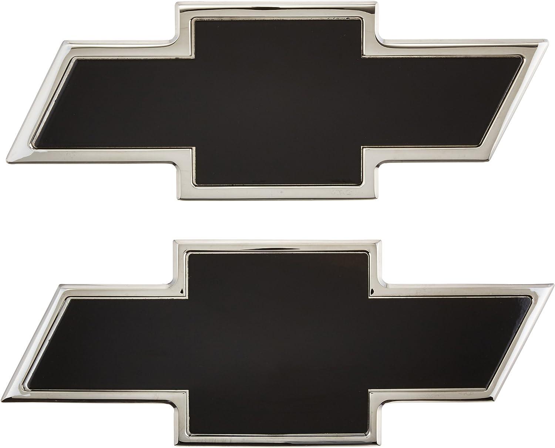 AMI 96100KP Chevy Bowtie Grille /& Tailgate Emblem Polished//Black Powder coat 2 Pack