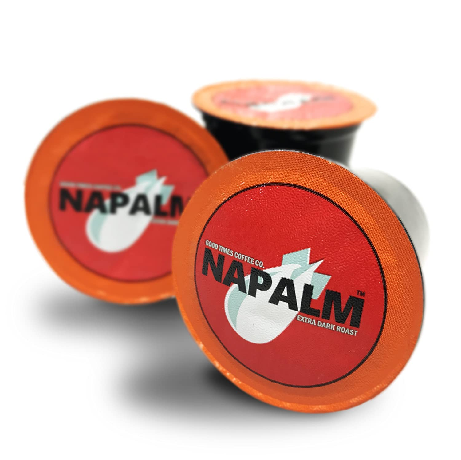Napalm Coffee, EXTRA DARK ROAST, 100% Arabica, Single Serve Cups for Keurig