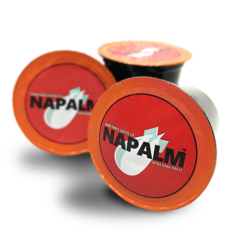 Napalm Coffee, EXTRA DARK ROAST, 100% Arabica, Single Serve Cups for Keurig