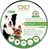 """Tick and Flea Collar For Dogs. Natural Repellent With Essential Oils. """"120 Days Protection"""".BEST Natural Pest Solution For Dogs Of All Sizes and Ages. Waterproof. BioTech Guard. 25"""""""