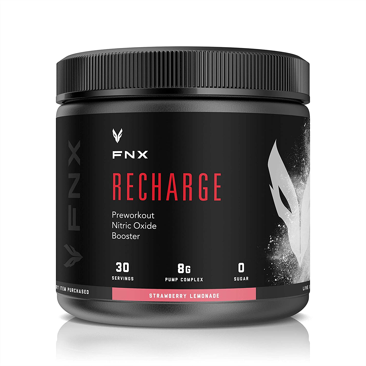 FNX Recharge PreWorkout Nitric Oxide Booster Strawberry Lemonade